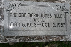 Ramona Jackie Marie <i>Jones</i> Allen