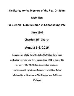 Rev John McMillan