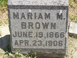 Mariam Molly <i>Calhoun</i> Brown