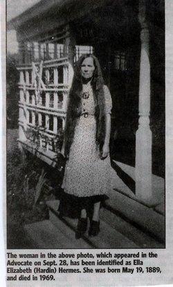 Ella Elizabeth Aunt Lizzie <i>Harden</i> Hermes