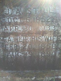 Margaret Ann <i>Weir</i> Still