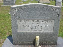 Janice Blair <i>Sports</i> Plauger