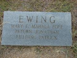 Mahala <i>Pope</i> Ewing