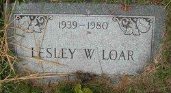 Leslie W Loar