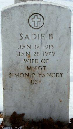 Sadie B Yancey