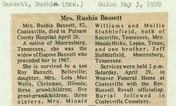 Jerushia Rushia <i>Stubblefield</i> Bassett