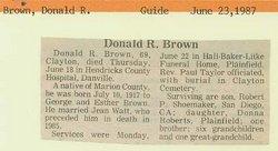 Donald R. Brown