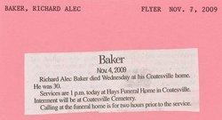 Richard Alec Baker