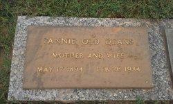 Francis M 'Fannie' <i>Old</i> Deans