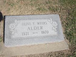 Olive Yvonne <i>Myers</i> Alder