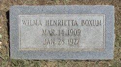 Wilma Henrietta Boxum
