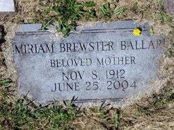 Miriam Helen <i>Brewster</i> Ballard