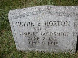 Hettie Eliza <i>Horton</i> Goldsmith