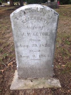 Mrs Elizabeth <i>Watkins</i> Acton