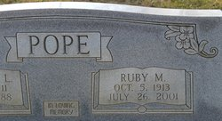Ruby M <i>Walker</i> Pope