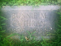 Bonnie M <i>Nicholson</i> Cothran
