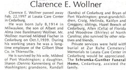 Clarence E Wollner