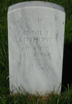 Annie L Anthony