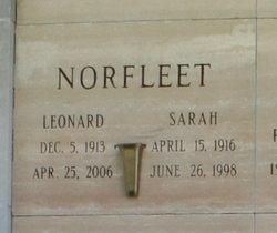 Sarah E <i>Watt</i> Norfleet