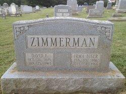 Irma Rae <i>Biser</i> Zimmerman