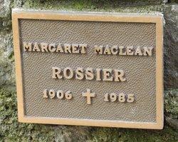 Margaret Maclean Rossier