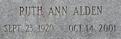 Ruth Ann <i>Alden</i> Advey