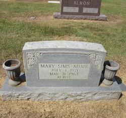 Mary <i>Sims</i> Adair