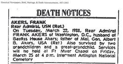 Adm Frank Peak Akers