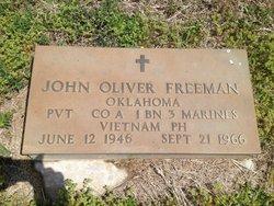 Pvt John Oliver Freeman