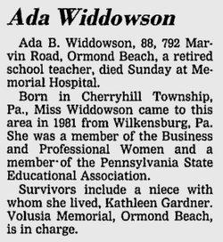 Ada Bexon Widdowson