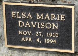 Elsa Marie <i>Hendrickson</i> Davison