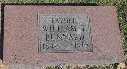 WILLIAM T BUNYARD
