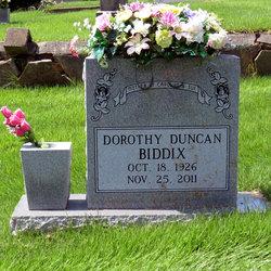 Dorothy Lee <i>Duncan</i> Biddix