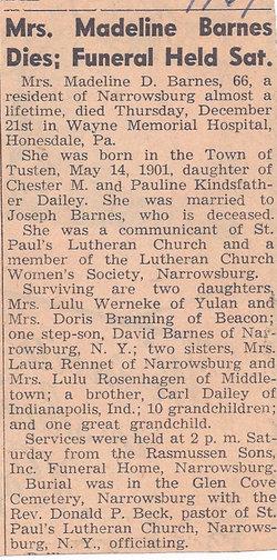 Madeline <i>Dailey</i> Barnes