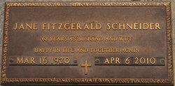 Jane <i>Fitzgerald</i> Schneider