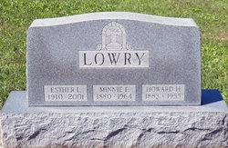 Minnie E <i>Adams</i> Lowry