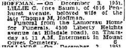 Lillian Cecillia <i>Saum</i> Hoffman
