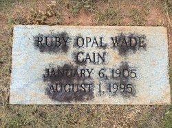 Ruby Opal <i>Sanders</i> Cain