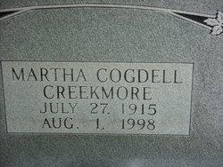 Martha <i>Cogdell</i> Creekmore