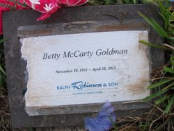 Betty <i>McCarty</i> Goldman