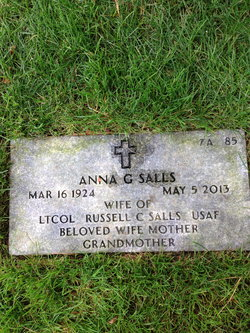 Anna G <i>Dahlberg</i> Salls
