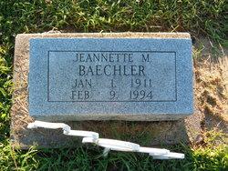 Jeannette M. <i>Wayne</i> Baechler