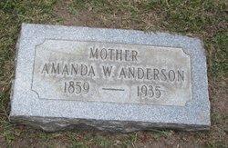Amanda Wilhemina <i>Peterson</i> Anderson