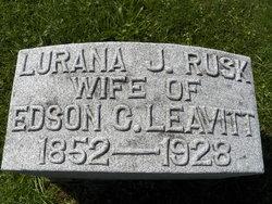Lurana J. <i>Rusk</i> Leavitt