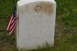 Pvt John W. Burkman
