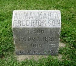 Alma Maria Fredrickson