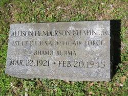 Lieut Allison Henderson Chapin, Jr