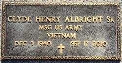 Clyde Henry Albright, Sr