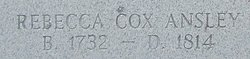 Rebecca <i>Cox</i> Ansley