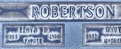 Lloyd D Robertson